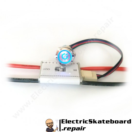 e-sk8 switch with latching LED button