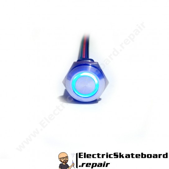 Momentary pushbutton with Blue LED
